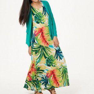 Attitudes by Renee Petite Maxi Dress w/ Cardigan